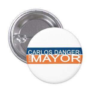 Anthony Weiner - peligro de Carlos para el alcalde Pin Redondo 2,5 Cm