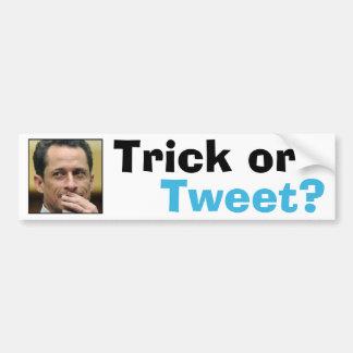 Anthony Weiner - Trick or Tweet? Car Bumper Sticker