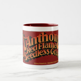 Anthony's Red Flame Grapes Two-Tone Coffee Mug