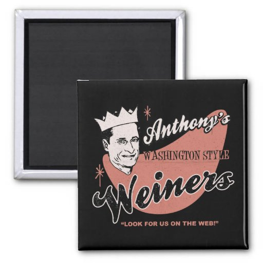 Anthony's Weiners 2 Inch Square Magnet