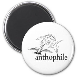 Round Magnet with Anthophile design