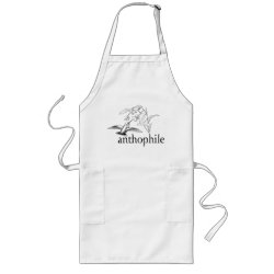 Long Apron with Anthophile design