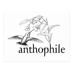 Postcard with Anthophile design