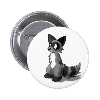 Anthro Raccoon Button