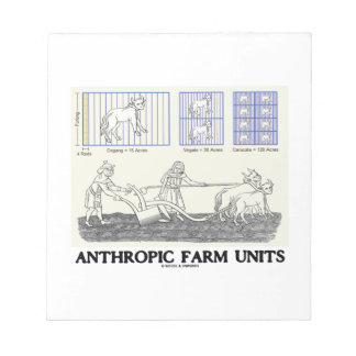 Anthropic Farm Units Measurement Units Notepad