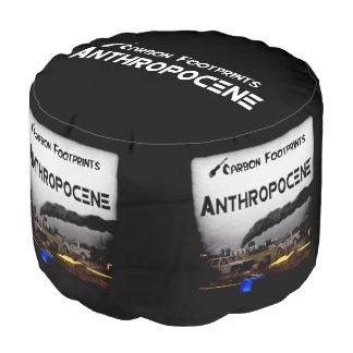 Anthropocene Grunge Round Pouf
