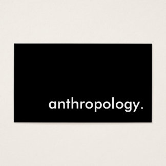 anthropology. business card