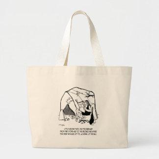 Anthropology Cartoon 1938 Large Tote Bag