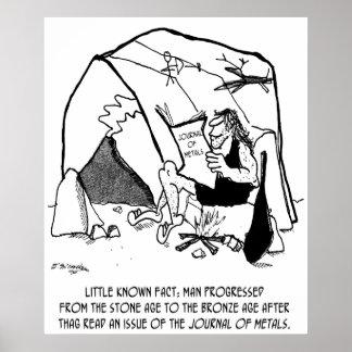 Anthropology Cartoon 1938 Poster