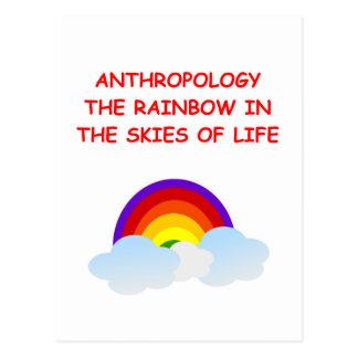 anthropology postcard