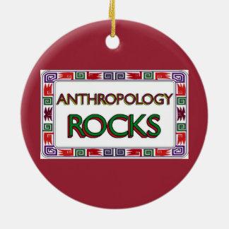 Anthropology Rocks Ceramic Ornament