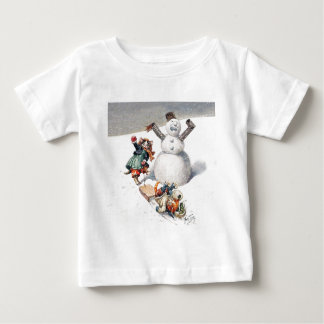 Anthropomorphic Cats Play in the Snow Baby T-Shirt