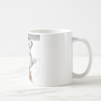 Anthropomorphic Cats Play in the Snow Coffee Mug