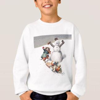 Anthropomorphic Cats Play in the Snow Sweatshirt