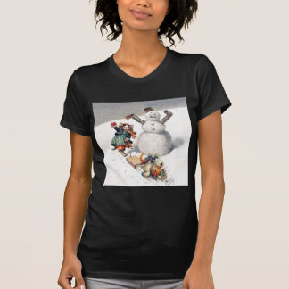 Anthropomorphic Cats Play in the Snow T-Shirt