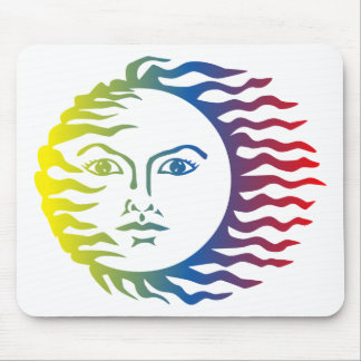Anthropomorphic Colorful Face Hot Light Solar Mouse Pad