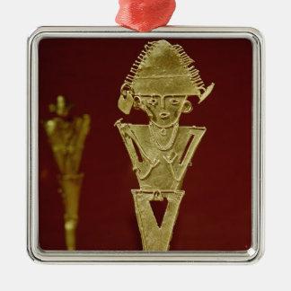 Anthropomorphic figure of a warrior metal ornament