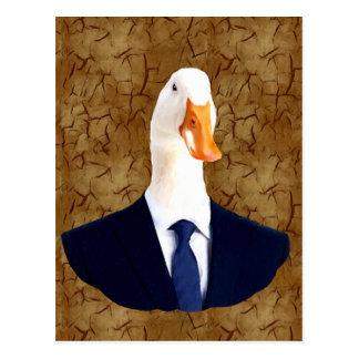 Anthropomorphic Goose Postcard