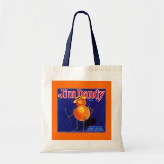 """ANTHROPOMORPHIC """"JIM DANDY"""" BRAND ORANGE TOTE BAGS"""