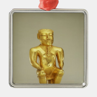 Anthropomorphic lime flask metal ornament