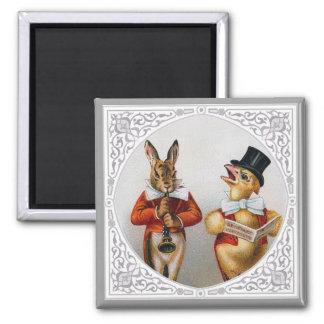 Anthropomorphic Singing Animals 2 Inch Square Magnet