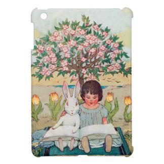 Anthropomorphic White Rabbit Reading  iPad Cover