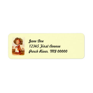 Anthropomrohic Cabbage Head Return Address Labels