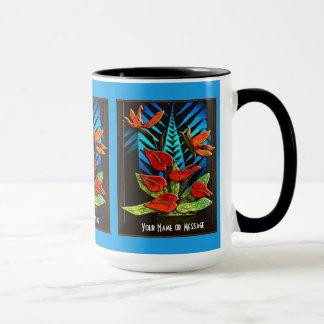 Anthurium de Hawiian (taza personalizada)