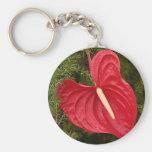 Anthurium flower in bloom key chain