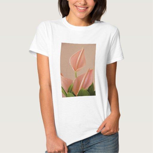 Anthurium rosado poleras