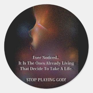 Anti-Abortion Round Stickers
