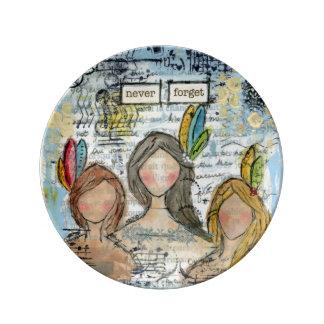 Anti-abuse original art porcelain plate