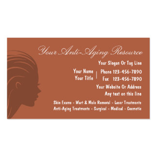 Anti Aging Business Cards