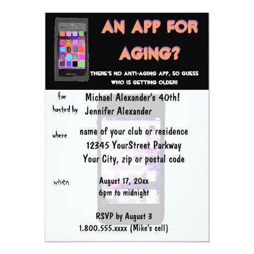 Anti Aging Phone App Birthday Card
