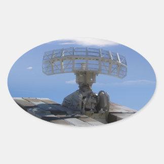 Anti Aircraft Detector - Ground To Air Radar Oval Sticker