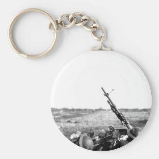 Anti-aircraft machine gun of 101_War image Keychain