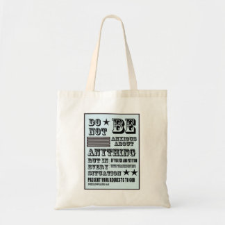 Anti-anxiety poster tote bag