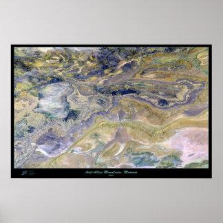 Anti-Atlas Mountains Morocco Satellite Poster Map