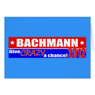 Anti Bachmann 2012 President DUMPER Design Card