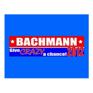 Anti Bachmann 2012 President DUMPER Design Postcard