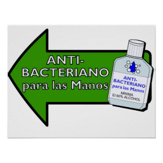 Anti-Bacteriano Para Las Manos Poster