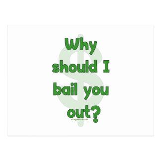 Anti-Bailout Postcard