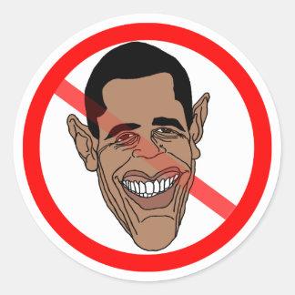 Anti Barack Hussein Obama Classic Round Sticker