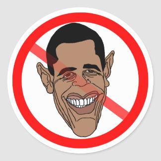 Anti Barack Hussein Obama Stickers