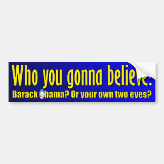 Anti Barack Obama Design Bumper Sticker