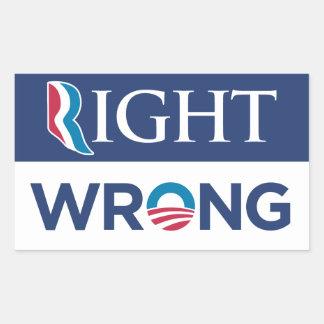 Anti Barack Obama Right Wrong Bumper Sticker Blue