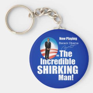 Anti Barack Obama - Shirker Keychain
