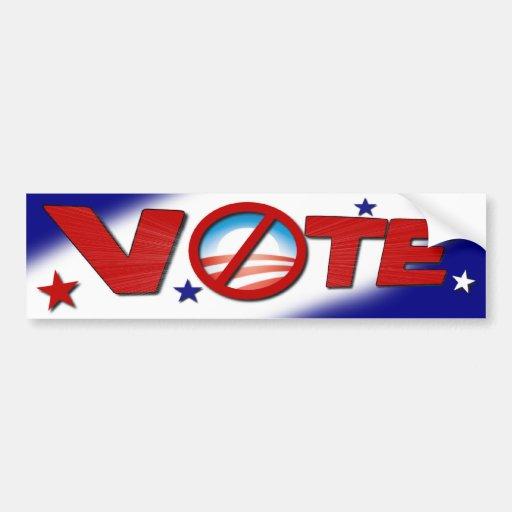 Anti Barack Obama - Vote Bumper Sticker