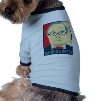 Anti-Barney Frank Banking Queen Pet Tee Shirt