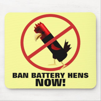 Anti battery hens mouse pad